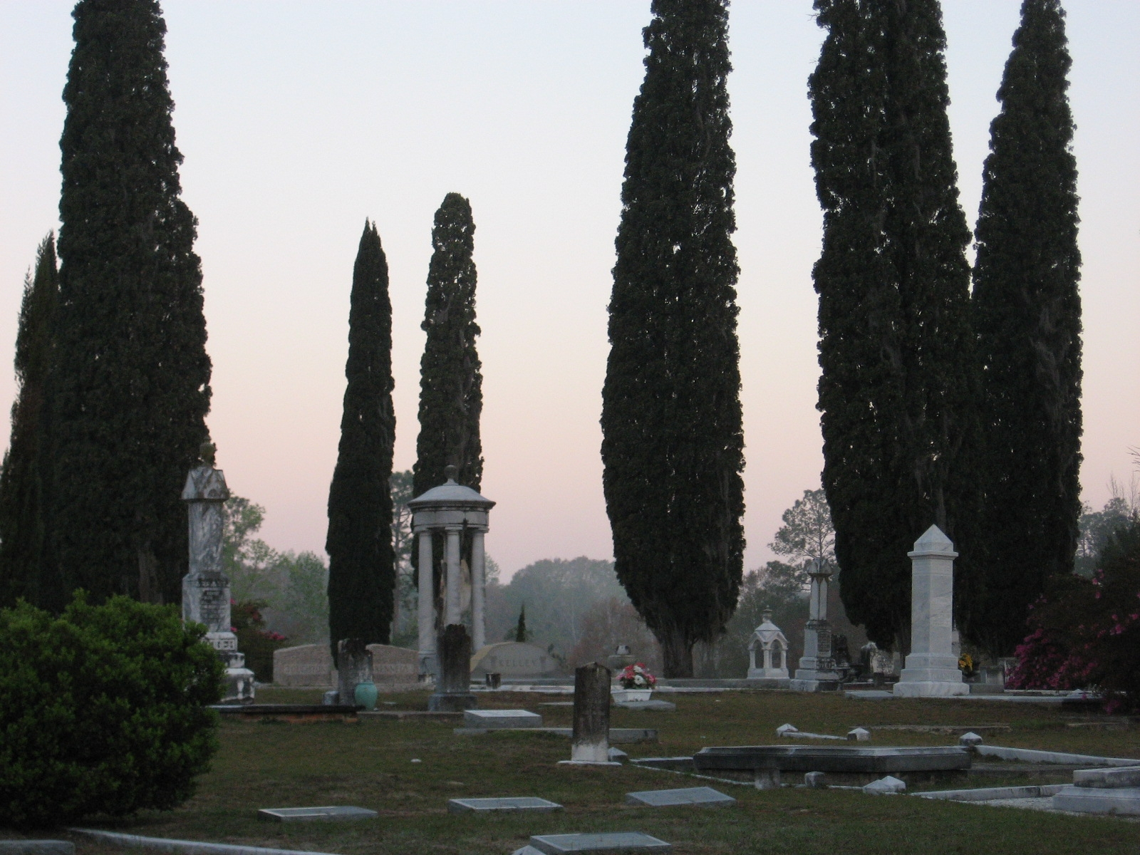 Overview of Historic Section at Douglas City Cemetery