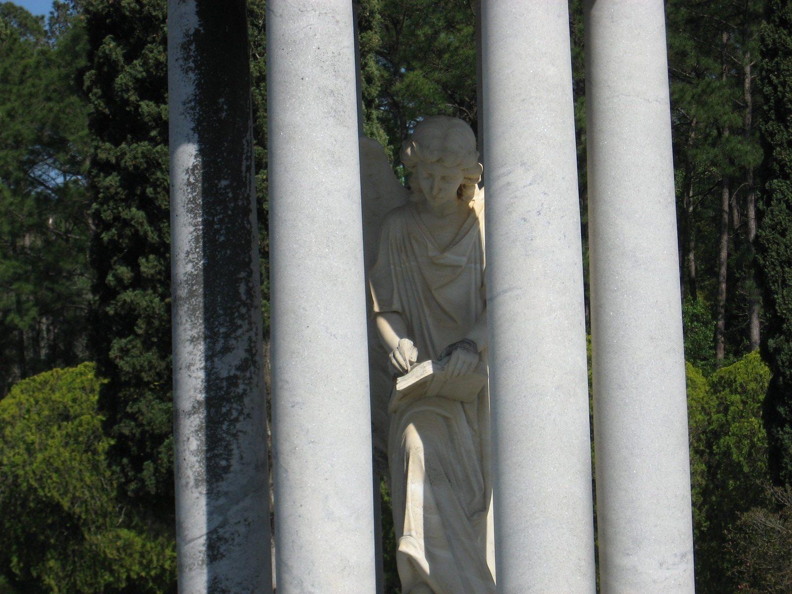 An angel monument at Douglas City Cemetery
